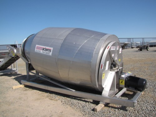 10-TON 304 STAINLESS STEEL ADAMS ROTARY MIXER DRUM Image